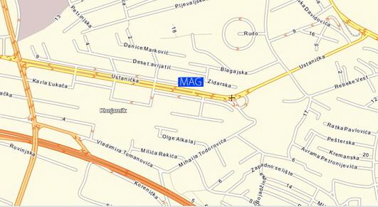 ustanicka beograd mapa MagTurs turisticka Agencija, djacke ekskurzije ustanicka beograd mapa